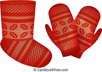 Vector Knitted Set