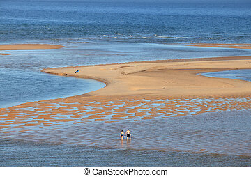 Ria Formosa - A couple enjoying the day on the sea Ria...