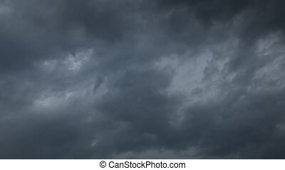 Time lapse of storm clouds moving fast 4K