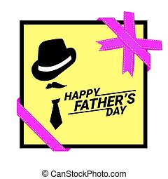 Happy Fathers Day greeting.