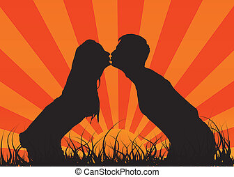 Kiss a guy with a girl. This is love.