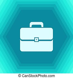 Briefcase icon, vector illustration. Flat design style -...