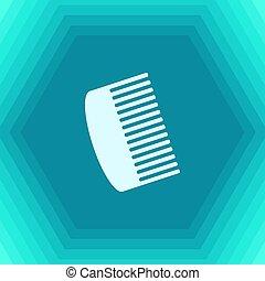 Vector hairbrush icon - Vector flat hairbrush icon on...