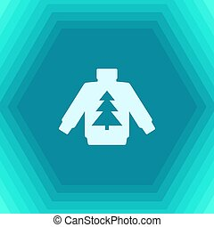 Vector christmas icon. New year illustration. flat Pullover...