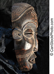 African Tribal Mask - Chokwe Tribe - African Tribal Wooden...