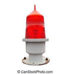 aviation obstruction beacon isolated on white with clipping...