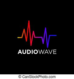 Music Logo concept Sound Wave, Audio Technology, Abstract...