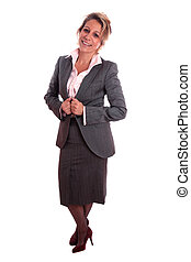 Mature woman - Senior business woman (fifties) standing with...
