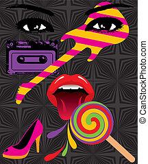 Pop Art Splash - Vector pop art painting