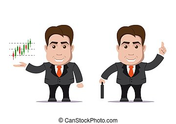 business man character - picture of cute business man with...