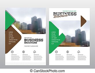 Modern Brochure design template. Annual report layout with...