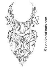 Sketch of tatto art, celtic design - Sketch of tatto art