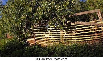 Fence cottage village