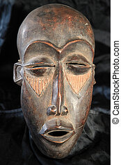 African Tribal Mask - Lega Tribe - African Tribal Wooden...