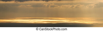 Genoa panoramic sea at sunset - Overview of the sea in Genoa...