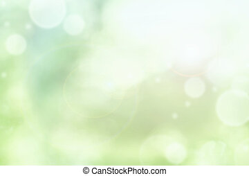 Bright Abstract of Blurred Green Summer Bokeh