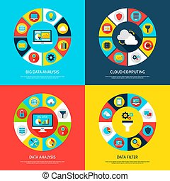 Big Data Concepts. Vector Illustration of Database...