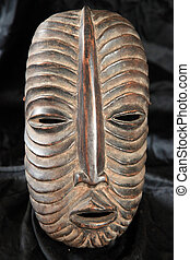 African Tribal Mask - Luba Tribe - African Tribal Wooden...