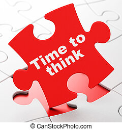 Time concept: Time To Think on puzzle background