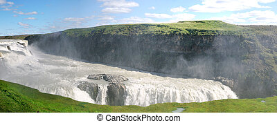 Falls Gulfoss - overview of waterfalls in Iceland