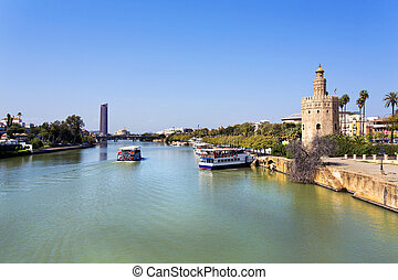 The famous Torre del Oro, the Moorish tower built to defend...