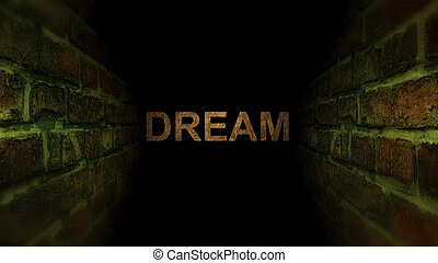 Go to dream in a maze. Search for your dream.