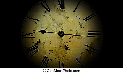 Watch quickly go. Time Lapse Clock. Old watch. - Watch...