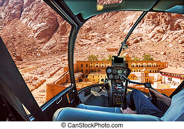Helicopter on Monastery of St Catherine