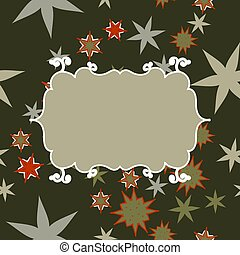 Scrapbooking template in gray with place for text for invitation, greeting, happy birthday label, postcard frame, baby or child posrcard, children pattern, clip art, holiday, gift and etc.