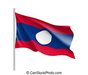 National official flag of Laos.