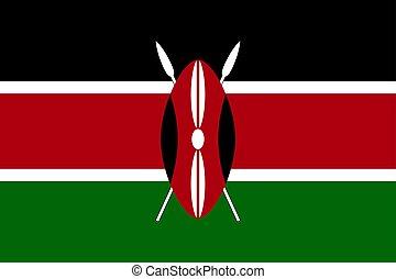 Vector national flag of Kenya. - National flag of Kenya....