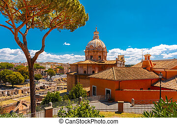 Church of Santi Luca e Martina, Rome, Italy - The Baroque...