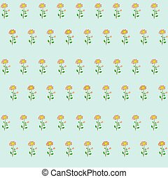 Seamless pattern with cute pink flowers