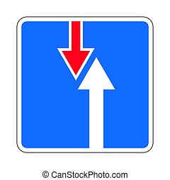 Traffic-road sign - Illustration of Road Priority Sign. The...