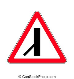 Traffic-road sign - Illustration of Triangle Warning Sign....