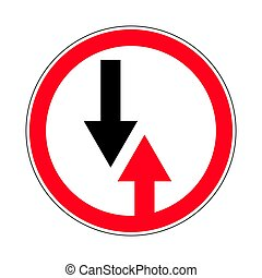 Traffic-road sign - Illustration of Circle Priority Sign....
