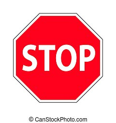 Traffic-road sign - Red Stop Sign. Traffic Regulatory...