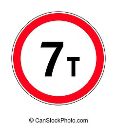 Traffic-road sign - Illustration of Road Prohibitory Sign...