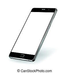 Smartphone mock-up. Vector illustration for printing and web...