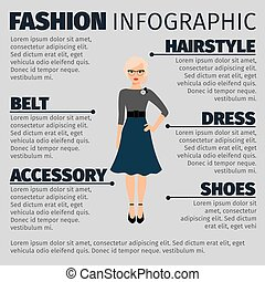 Fashion infographic with female teacher - Fashion...