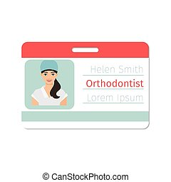 Female orthodontist medical specialist badge - Female...