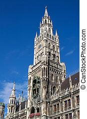 Marienplatz, Munich Germany - Neues Rathaus the new town...