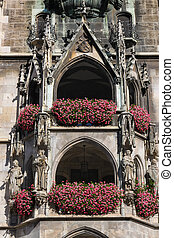 Alcoves at Marienplatz, Munich Germany - Neues Rathaus the...