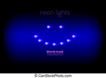 Vector illustration of a purple background with a pink neon...