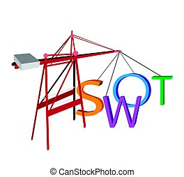 Red Crane Loading The SWOT Analysis Concept