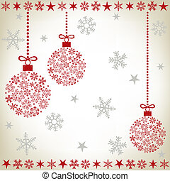 Abstract christmas ball background. Illustration vector.