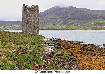 Kildavnet castle - HDR - Kildavnet castle in Achill Island....