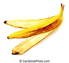 Banana peel isolated on white