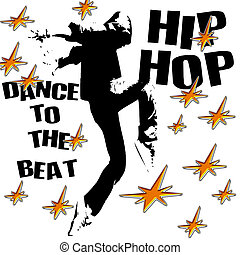 hip hop dance - dance to the hip hop beat illustration