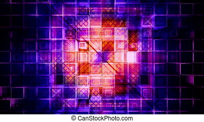 Square geometric VJ looping animated abstract CG background...